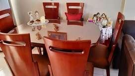 Mesa Comedor 6 puestos con vidrio