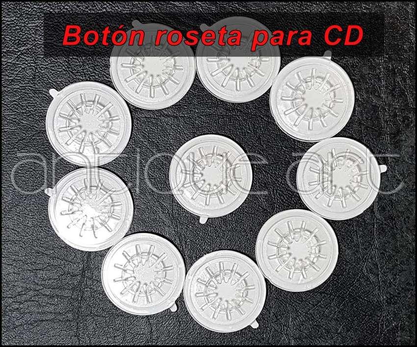 A64 Boton Roseta Adhesivo Para Cd Dvd Blu-ray 10x20 Soles 0