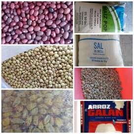 Venta de arroz, granos entre otros