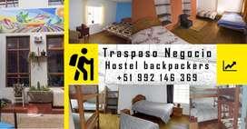 TRASPASO HOSTEL FUNCIONANDO