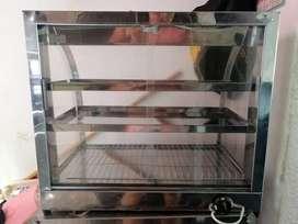 Se vende vitrina y fritadror con poco uso
