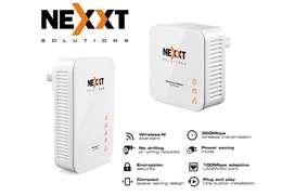 Repetidor Extensor Internet Kit Power Line Nexxt Wifi 300mbps Sparx201-w