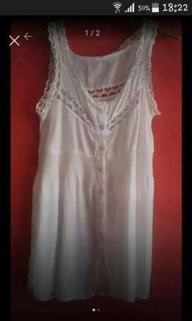 Camisa con Encaje Blanca