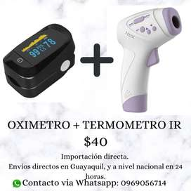 Combo termometro + oximetro