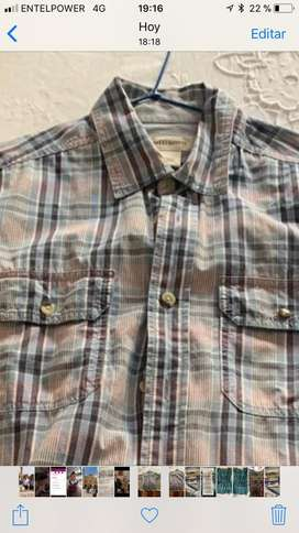 Camisa Manga Corta Caballero 100% algodon