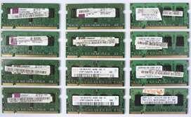Vendo memoria memorias Ddr2 de 1gb 1 giga para Laptop con bus de 800Mhz, Diversas Marcas