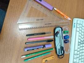 Artículos escolares y técnicos varios