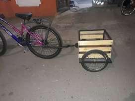 tráiler para bicicleta