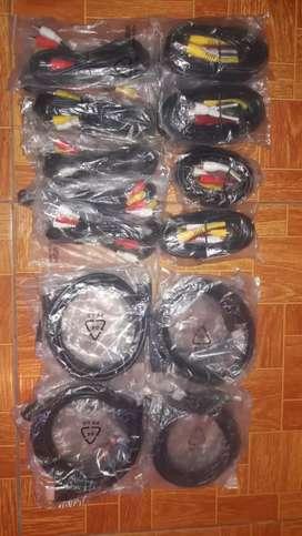 Vendo lote de cables RCA, HDMI y UTP