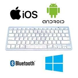 Teclado Inalambrico Tipo Mac Bluetooth Para Tablet Y Pc