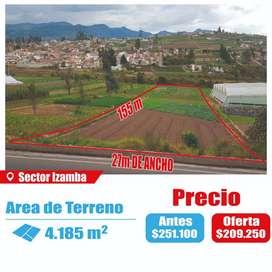 Venta Terreno en Izamba para urbanización, galpones, hotel o motel y complejo deportivo