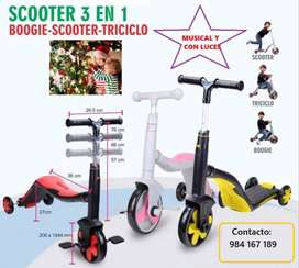 SCOOTER 3 EN 1 _ MUSICAL Y CON LUCES