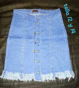 Hermosas  faldas  en Jean stresh