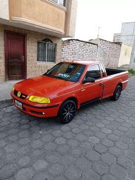 Vendo una hermosa Volkswagen Saveiro año 2002 impecable 0 choques matricula al dia 2019