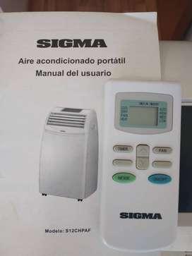 Aire acondicionado portatil SIGMA frio/calor. Excelente estado.
