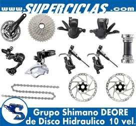 Grupo Shimano Deore Hidraulico 10 Vel