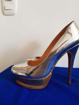 Zapato Luiza Barcelos Plateado