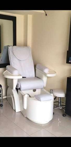 Sillon de manicure y pedicure con masaje