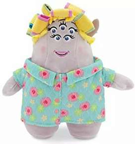 Peluche Sherri Squibbles, 25 cm Monsters University L 'Ok Mama Scott, Sherri Squibbles Soufflè, Disney Store - Nuevo