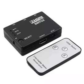Switch 3x1 hdmi HD 1080p con control remoto