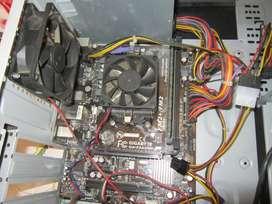 VENDO TARJETA MADRE(GIGABYTE GA F2A55M-S1) + CPU(AMD A8 7600) + MEMORIA(4 GB)