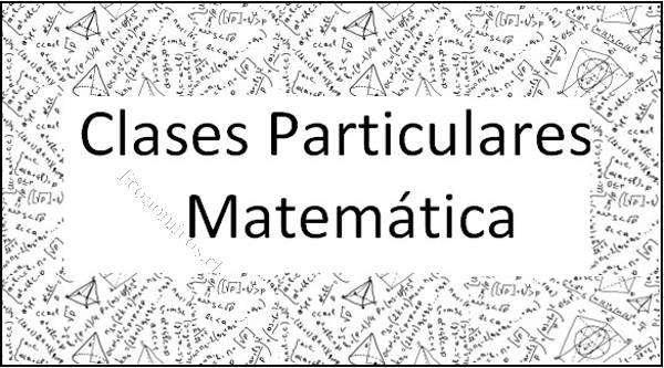 Clases particulares Física, Matemáticas. Primaria y secundaria a domicilio