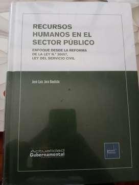Libro de recursos humanos en el sector publico