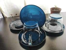 Set de té en vidrio