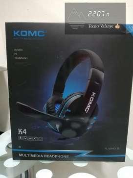 Diadema Komc Gamer k4...con control de volumen.