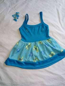 vestido azul talla 2