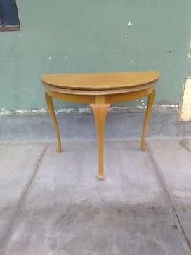 consola mesa de juego medialuna
