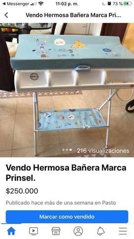Se vende Hermosa Bañera para Bebe Nueva, marca prinsel