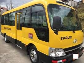microbus escolar Hyundai county 2013, 25 pasajeross