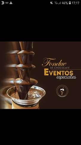 Alquiler Servicio Cascada  Fuente de Chocolate. Bomboneria