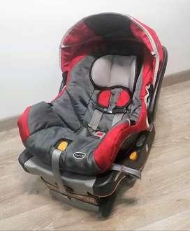 Silla Portabebe Chicco Keyfit 30 Rojo Gris con base para carro