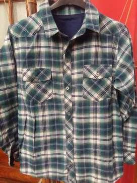 Camisa niño escocesa NUEVA en gama de Verde  talle 10