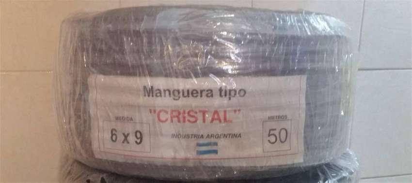 Manguera Cristal  6x9   50 metros 0
