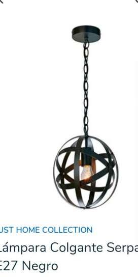 Lámpara Colgante Serpa Color Negra 1 Luz
