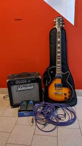 Se vende combo guitarra+ampli+pedal