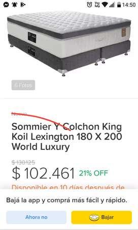 VENDO SOMIER KING KOIL