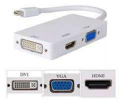 ADAPTADOR DE MINIDISPLAYPORT A VGA-HDMI-DVI