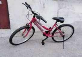 Bicicleta Rosada de carreras