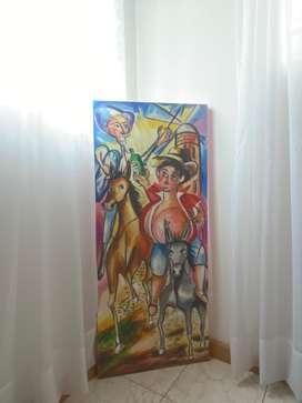 Cuadro de Don Quijote de la Mancha.
