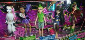 Muñecas monster high set x 5