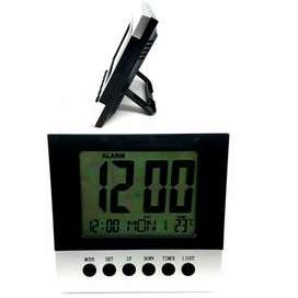 Reloj Digital Despertador LCD Alarma Calendario Fecha Hora Temperatura