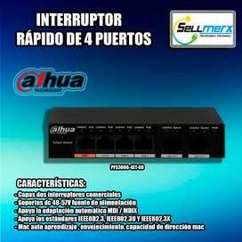 Interrruptor Rápido De 4 Puertos Pfs3006-4et-60