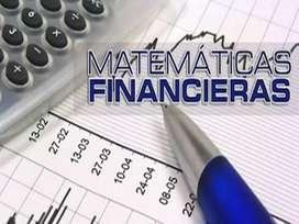 Matemática financiera clases a domicilio en quito
