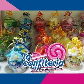 Dulces para fiesta / Pasabocas para fiesta / Vasos personalizados con dulces