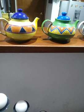 Lindas teteras de ceramica