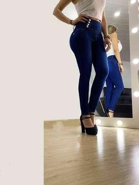 Pantalon jean para dama azul
